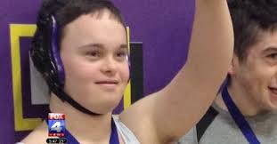 Kearney, Missouri wrestler with Down syndrome wins first career match